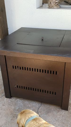 Bronze propane fire pit for Sale in Rancho Cucamonga, CA