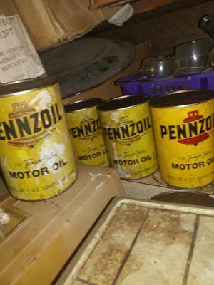 Vintage Penzoil full oil cans for Sale in Pawhuska, OK
