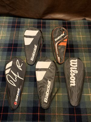 5 Like New Tennis Racket Cases for Sale in Redding, CT