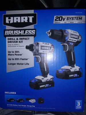 Heart 20 volt brushless impact and drill kit for Sale in Greer, SC