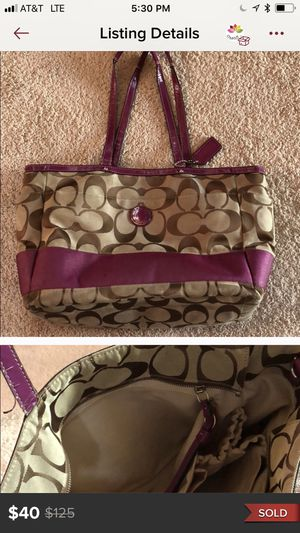Coach (large) bag for Sale in Grosse Pointe Farms, MI