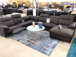 BRAND NEW TOP GRAIN LEATHER SECTIONAL SOFA for Sale in Fort Worth, TX