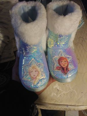 Baby girl frozen boots for Sale in San Jacinto, CA