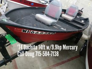 1974 Oachita 14ft w/9.9hp Mercury for Sale in Shawano, WI