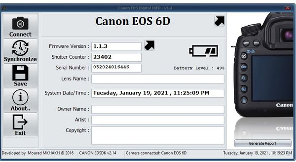 Canon EOS 6D Body Full Frame - Low Shutter- Backup Camera 9 out of 10 Cosmetics