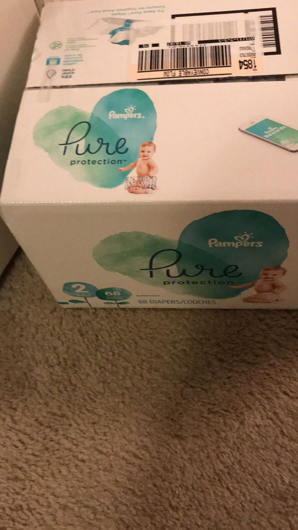 Pampers pure size 2. 68 diapers