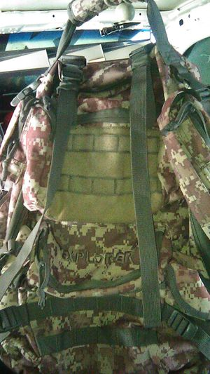 Explorer Tactical Gun Concealment Backpack With Molle Webbing Hydration Ready for Sale in Long Beach, CA