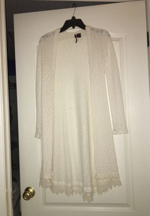 white cardigan for Sale in Land O Lakes, FL
