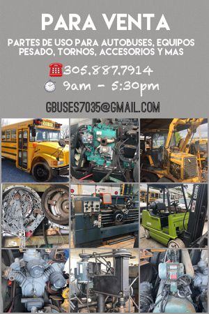 Parts for Busses, heavy trucks & equipment / Partes para autobuses, camiones y equipo pesado for Sale in Miami, FL