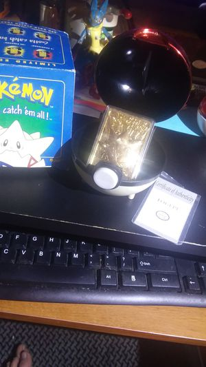 Pokemon Cards Gold Plated 1999 Togepi Burger King Toys for Sale in Waynesboro, TN