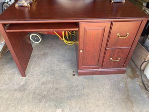 Cherrywood Computer Desk, File Cabinet, Bookshelf, Pair of desk Lamps for Sale in Lubbock, TX