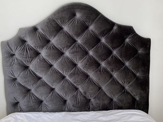 Custom Gray Velvet Headboard $115 for Sale in El Segundo,  CA