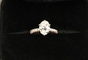 Rose gold diamond engagement ring 4 and 3/4 ring size. Oval shape, 1 .6 ct. Appraisal paperwork shown in provided images. for Sale in Seattle, WA