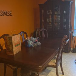 Dining Table With 4 Chairs And China Closet for Sale in Aberdeen,  MD