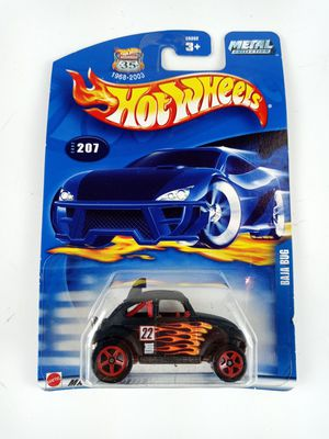 2002 Hot Wheels Collector #207 BAJA BUG Flat Black w/Dark Red 5 Spoke Wheels for Sale in Austin, TX