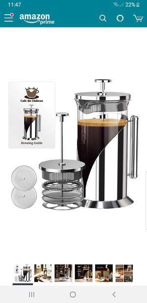 Cafe Du Chateau French Press Coffee Maker 4 Filtration for Sale in Union City, CA