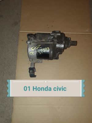 01 Honda civic starter for Sale in Houston, TX