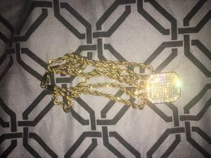 Diamond Block Gold Chain for Sale in Washington, DC