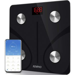 Bluetooth Body Fat Scale Smart BMI Scale Digital Bathroom Wireless Weight Scale, Body Composition Analyzer with Smartphone App 440 lbs - Black for Sale in Ontario, CA