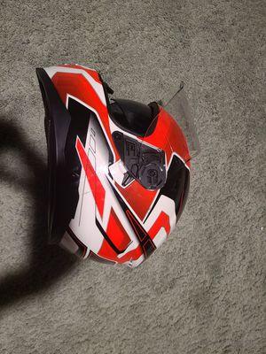 Built force one XS motorcycle helmet, DOT, drop down sun visor for Sale in Las Vegas, NV