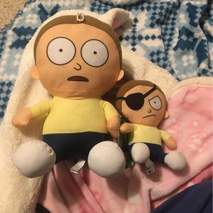 ORIGINAL Rick And Morty Stuffed Toys, 2 Pack RARE for Sale in Casa Grande, AZ