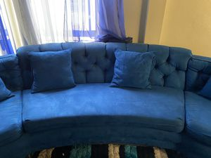 Retro Electric Blue Couch for Sale in Buena Park, CA