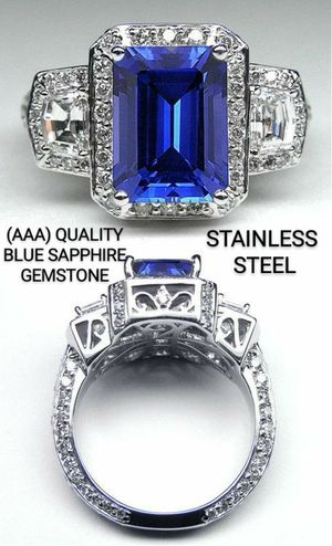 BLUE SAPPHIRE BAGUETTE RING for Sale in Lawton, OK