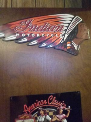 Indian motorcycle tin sign!!!! 🏁🏁🏁 for Sale in Brighton, CO