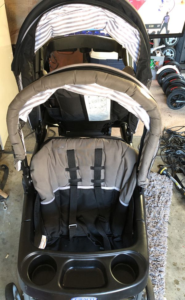 Graco Ready2Grow LX Stand & Ride Duo Double Baby Stroller