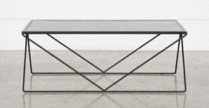 Modern concrete look metal coffee table for Sale in Los Angeles, CA