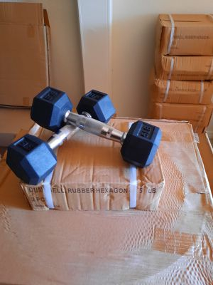 🔥🔥 5 lb rubber coated Hex dumbbell sale 🔥🔥 for Sale in Temple City, CA