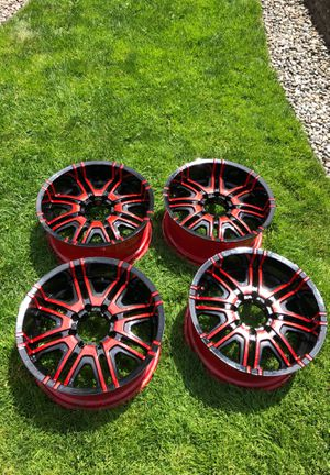 20 inch rims red/black for Sale in Federal Way, WA