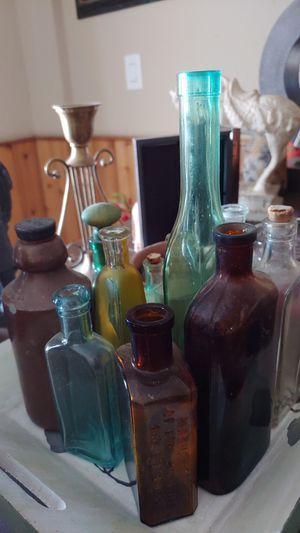 Antique glass medicine bottles for Sale in Henderson, NV