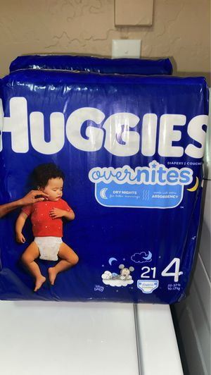 Huggies Overnights Size 4 for Sale in Gilbert, AZ