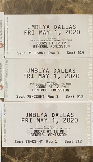 JMBLYA DALLAS TICKETS $75 EACH!!!!!! for Sale in Irving, TX