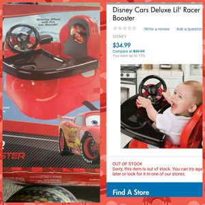 Disney cars booster seat for Sale in Fairfax, VA