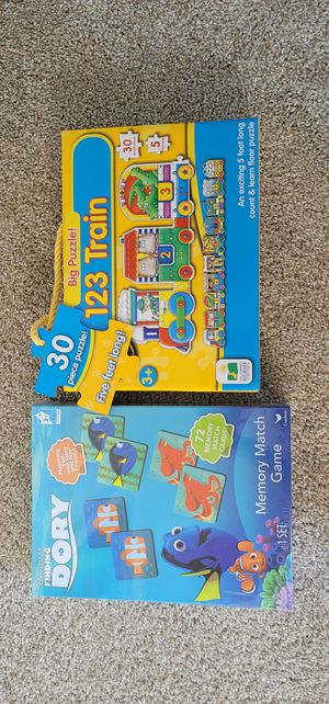 Toddler Puzzle and Memory Card Game for Sale in South Riding, VA