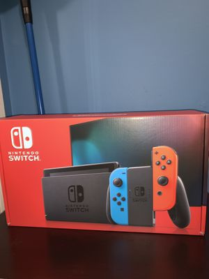 Nintendo Switch with Neon Blue and Neon Red Joy-Con for Sale in Weehawken, NJ