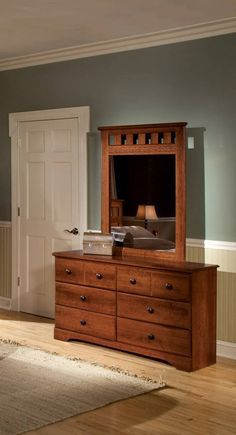 Orchard Wood Dresser with Mirror for Sale in San Francisco, CA