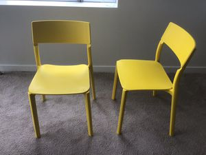 2 IKEA yellow chairs for Sale in Bellevue, WA