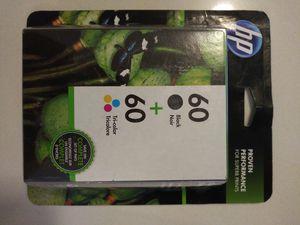 HP 60 2-pack black/tri-color ink cartridges for Sale in Honolulu, HI