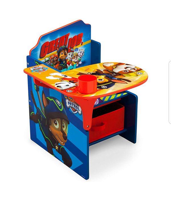 Kids Children Chair Paw Patrol Desk Storage Bin, Nick Jr. Nickolodeon BRAND NEW