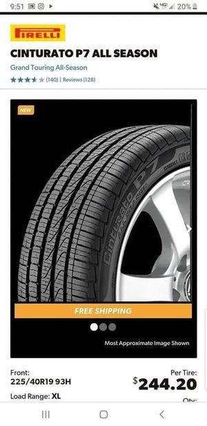Pirelli Cinturato P7 (225/40/19 & 255/35/19) for Sale in Los Angeles, CA