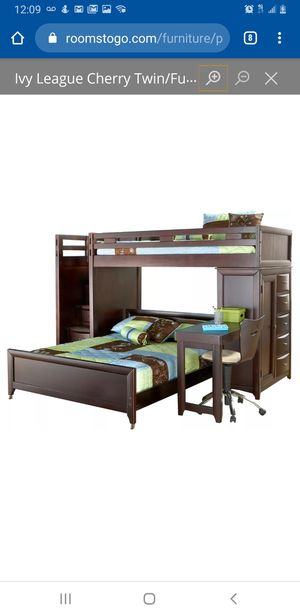 Cherry Wood Bunk Bed for Sale in Wichita, KS