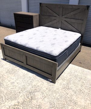 Brand new King bedroom set with Restoration hardware dresser for Sale in San Diego, CA