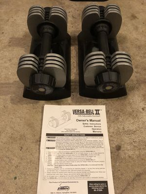 Adjustable Dumbbells 5-25lbs with manual for Sale in Burlington, MA