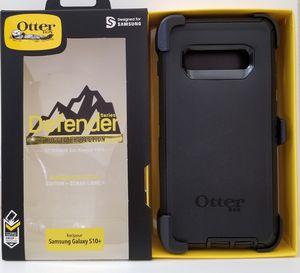 Samsung Galaxy S10+(Plus) Otterbox Defender series Case with belt clip holster black for Sale in Santa Clarita, CA