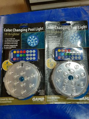 Color changing pool lights for Sale in Dixon, MO
