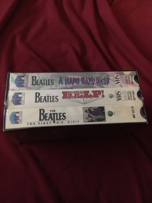 Brand newThe Beatles collection (3) VHS tapes Still in the wrapper never opened for Sale in Revere, MA