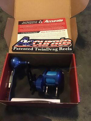 Accurate tern 400 reel with Phinex black diamond rod for Sale in San Pedro, CA